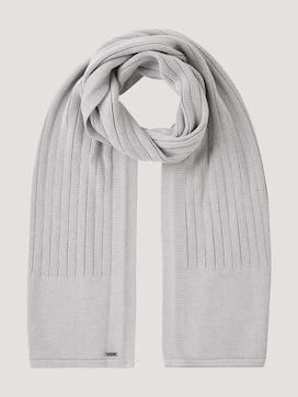 geribbelde sjaal van biologisch katoen - 7 - TOM TAILOR