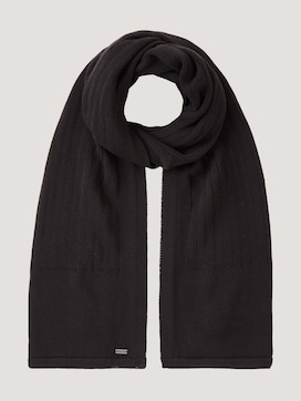 Ribbed scarf with organic cotton - 7 - TOM TAILOR