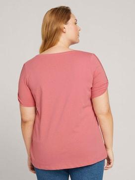 Curvy - print t-shirt with organic cotton - 2 - My True Me