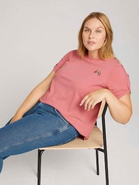 Curvy - print t-shirt with organic cotton - 5 - My True Me