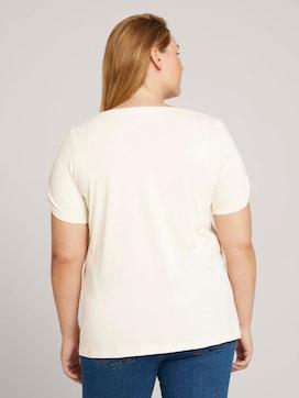 Curvy - T-shirt met print van biologisch katoen - 2 - My True Me