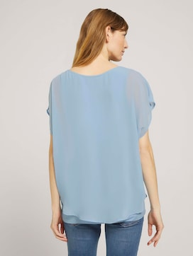 Shirt mit Chiffon - 2 - TOM TAILOR