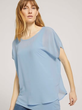 Shirt mit Chiffon - 5 - TOM TAILOR
