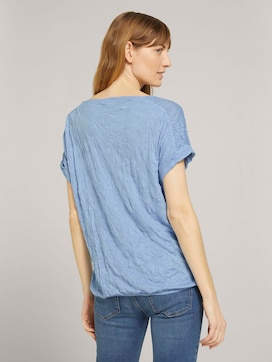 T-shirt with lace in a creased look - 2 - TOM TAILOR