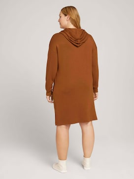 Curvy - sweat dress with a hood - 2 - My True Me