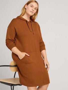 Curvy - sweat dress with a hood - 5 - My True Me
