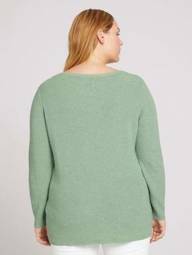 Curvy - gebreide trui van biologisch katoen - 2 - My True Me