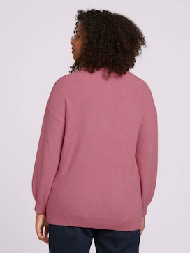 Curvy - sweater in a melange look - 2 - My True Me