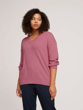 Plus - Pullover in Melange-Optik - 5 - My True Me