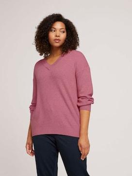 Curvy - sweater in a melange look - 5 - My True Me