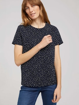T-shirt met kleine print - 5 - TOM TAILOR