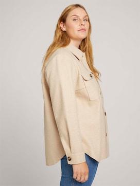 Mottled shirt jacket - 5 - My True Me