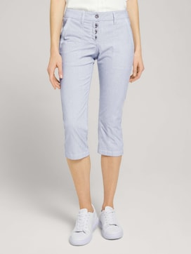 Tapered Relaxed Caprihose mit Knopfleiste - 1 - TOM TAILOR