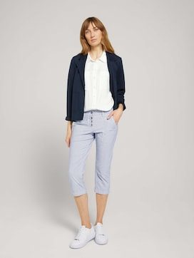 Tapered Relaxed Caprihose mit Knopfleiste - 3 - TOM TAILOR