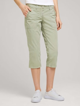 Tapered Relaxed Button Capri Broek - 1 - TOM TAILOR