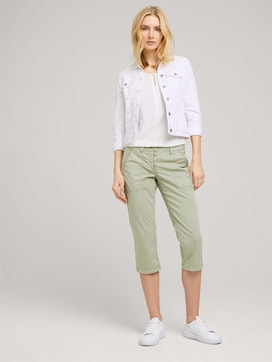 Tapered Relaxed Button Capri Broek - 3 - TOM TAILOR