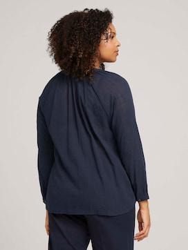 Gestructureerde blouse van biologisch katoen - 2 - My True Me