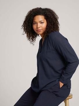 Gestructureerde blouse van biologisch katoen - 5 - My True Me