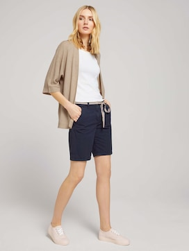 Chino Bermuda shorts with a belt - 3 - TOM TAILOR