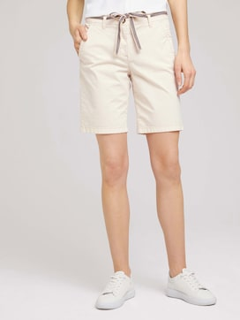 Chino Bermuda shorts with a belt - 1 - TOM TAILOR
