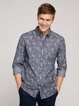 gemustertes Hemd aus Bio-Baumwolle - 5 - TOM TAILOR