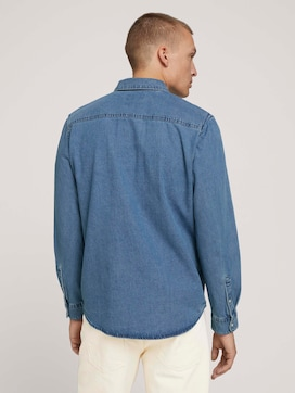 Denim shirt with chest pockets - 2 - TOM TAILOR
