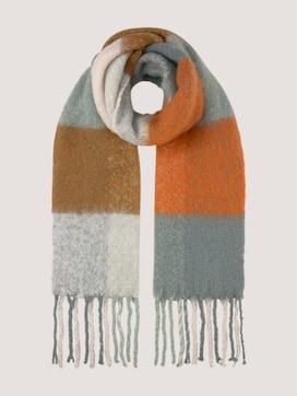 Schal mit Colour Blocking aus recyceltem Polyamid - 7 - TOM TAILOR Denim