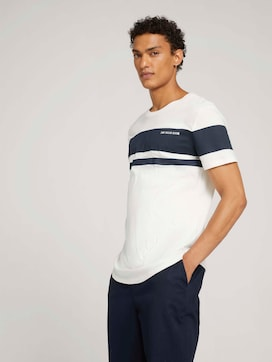 T-shirt met blokstrepen van biologisch katoen - 5 - TOM TAILOR Denim