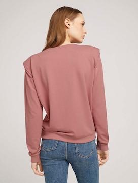 Sweatshirt with shoulder pads - 2 - TOM TAILOR Denim