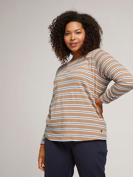 Striped long-sleeved shirt with organic cotton - 5 - My True Me