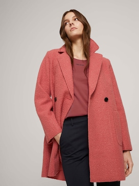 Loose-fit boucle coat - 5 - TOM TAILOR