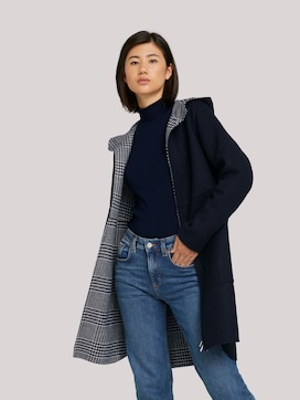 Wool coat with a hood - 5 - TOM TAILOR