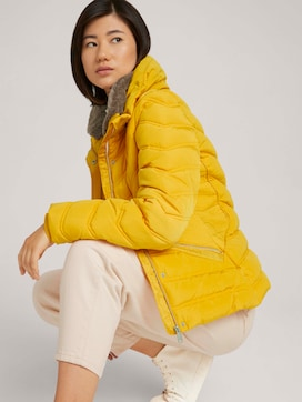 Stand-up collar puffer jacket with recycled polyester - 5 - TOM TAILOR