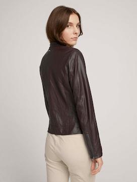 Imitation leather biker jacket - 2 - TOM TAILOR