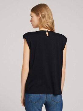 T-shirt met schoudervullingen - 2 - TOM TAILOR