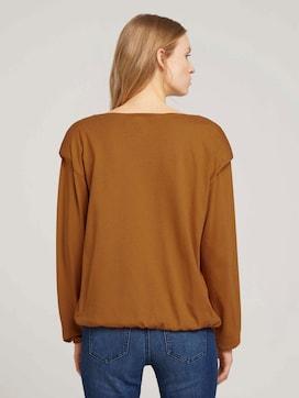 Elastisch shirt met lange mouwen en schoudervullingen - 2 - TOM TAILOR