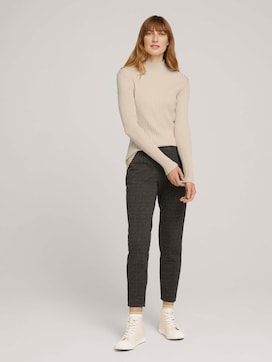Checked loose-fit trousers - 3 - TOM TAILOR