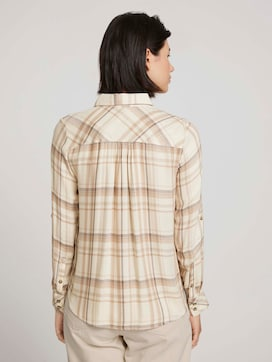 Checked shirt blouse - 2 - TOM TAILOR
