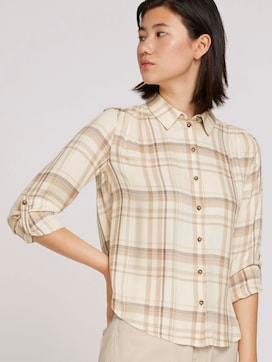 Checked shirt blouse - 5 - TOM TAILOR