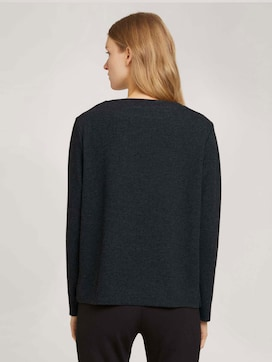 Patterned sweatshirt with a submarine neckline - 2 - TOM TAILOR