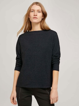 Patterned sweatshirt with a submarine neckline - 5 - TOM TAILOR