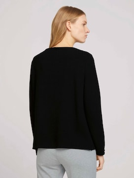 Glitter getextureerde sweater - 2 - TOM TAILOR
