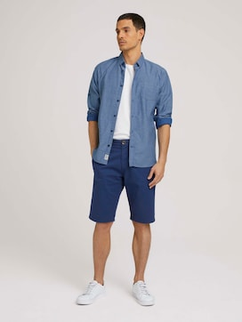 Chino shorts with organic cotton - 3 - TOM TAILOR