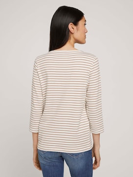 Gestreept shirt met 3/4 mouwen - 2 - TOM TAILOR