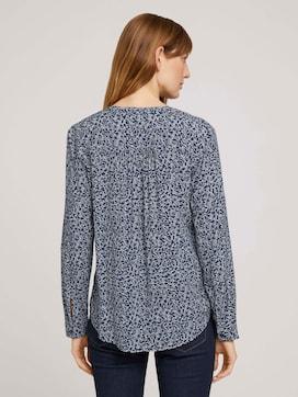 Patterned henley blouse with LENZING (TM) ECOVERO (TM) - 2 - TOM TAILOR