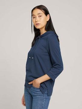 Shirt met 3/4 mouwen en capuchon - 5 - TOM TAILOR