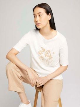 Half-sleeved print shirt with organic cotton - 5 - TOM TAILOR