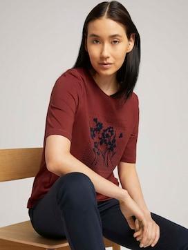 Halbarm Print Shirt mit Bio-Baumwolle - 5 - TOM TAILOR