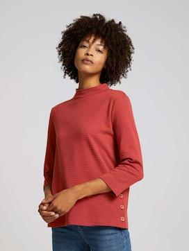 Ripp Shirt mit Bio-Baumwolle - 5 - TOM TAILOR