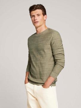 Pullover in Melange-Optik - 5 - TOM TAILOR Denim